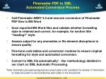 finereader pdf to xml automated conversion process