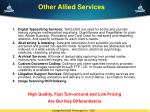 other allied services