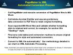 pagemaker to xml automated conversion process