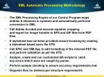 xml automatic processing methodology