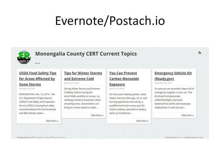 Evernote/Postach.io
