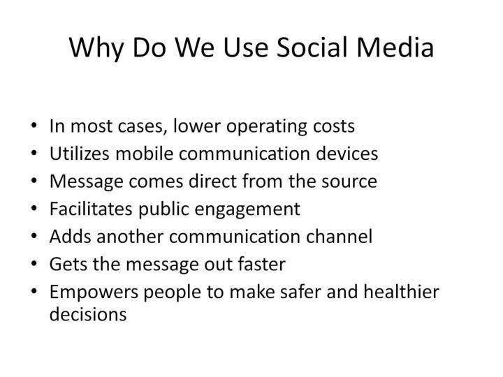 Why Do We Use Social Media
