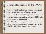3 crucial reversals in the 1990s