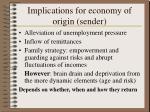 implications for economy of origin sender