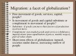 migration a facet of globalization