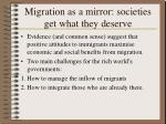 migration as a mirror societies get what they deserve