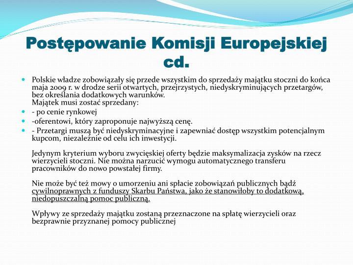 Postępowanie Komisji Europejskiej