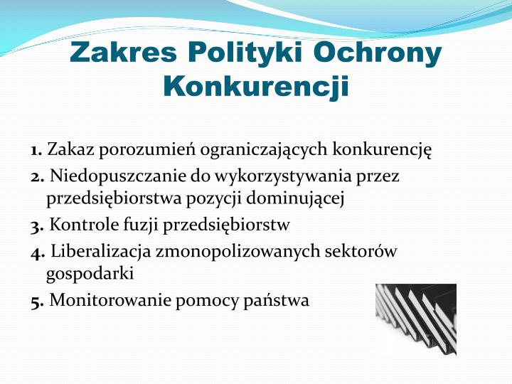 Zakres Polityki Ochrony Konkurencji