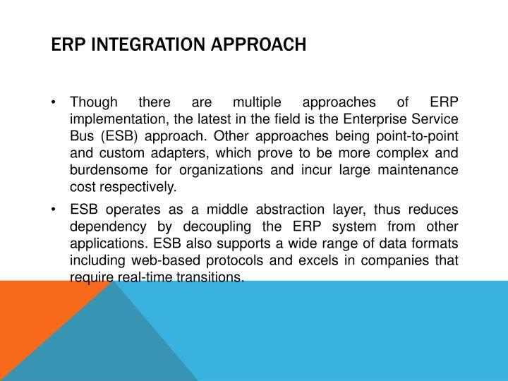 ERP Integration Approach