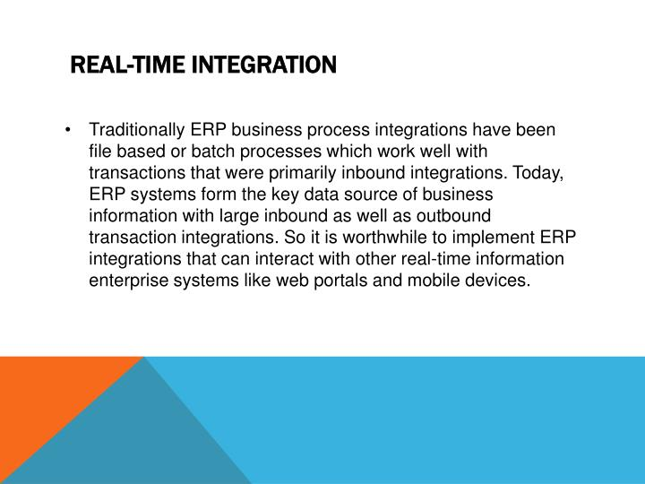 Real time integration