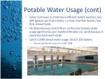 potable water usage cont1