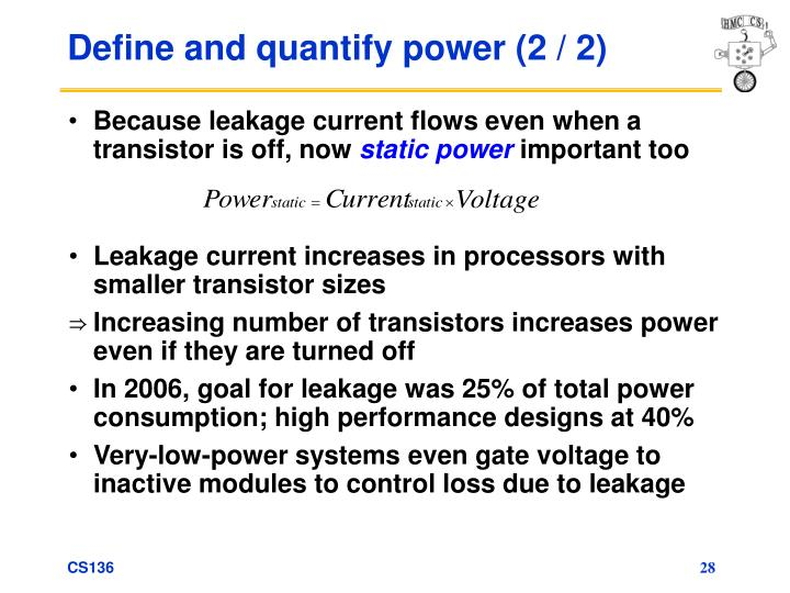 Define and quantify power (2 / 2)