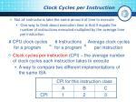 clock cycles per instruction