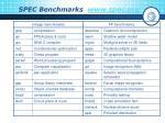spec benchmarks www spec org