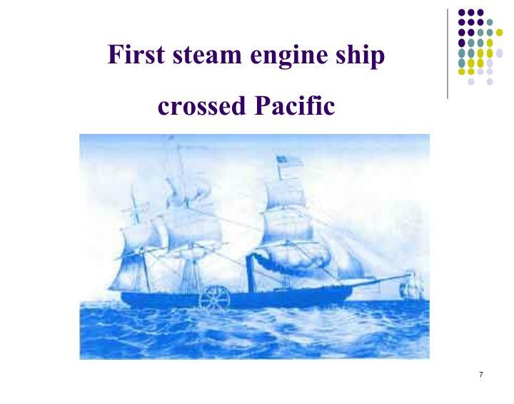 First steam engine ship