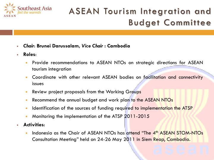 ASEAN Tourism Integration and