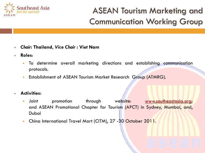 ASEAN Tourism Marketing and