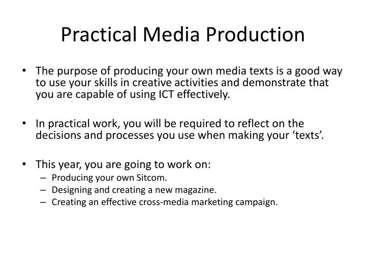Practical Media Production