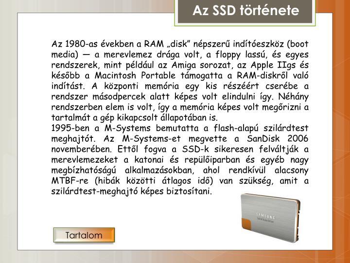 Az SSD története