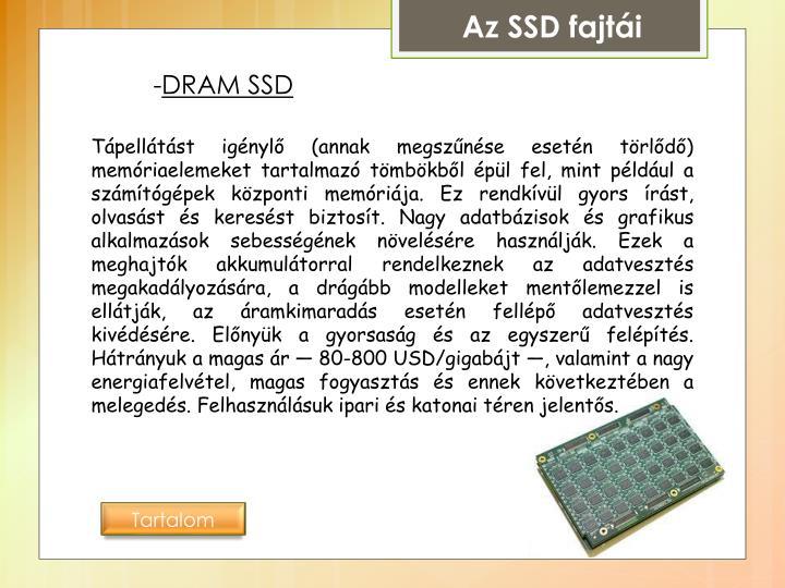 Az SSD fajtái