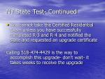 ny state test continued