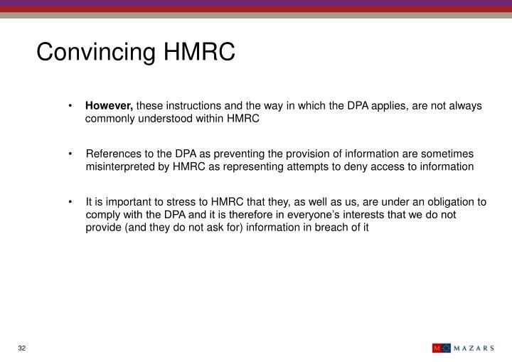 Convincing HMRC