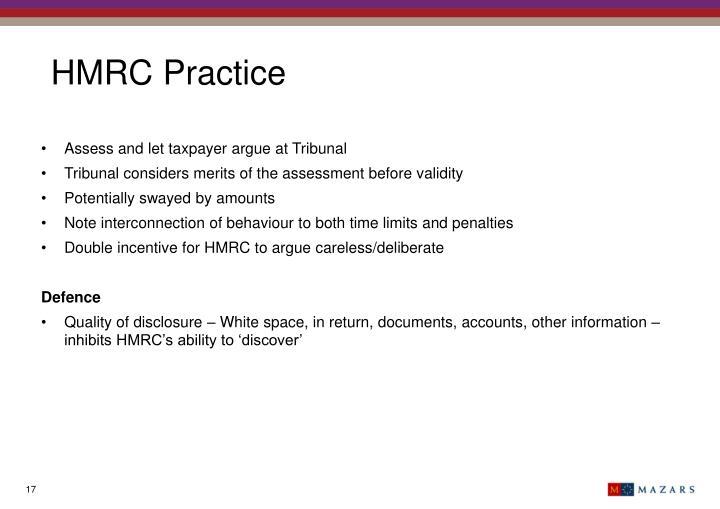 HMRC Practice