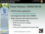 focus partners cwss cw150