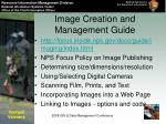 image creation and management guide