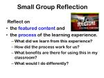 small group reflection1