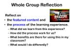 whole group reflection