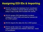 assigning edi ids importing