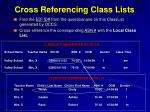 cross referencing class lists