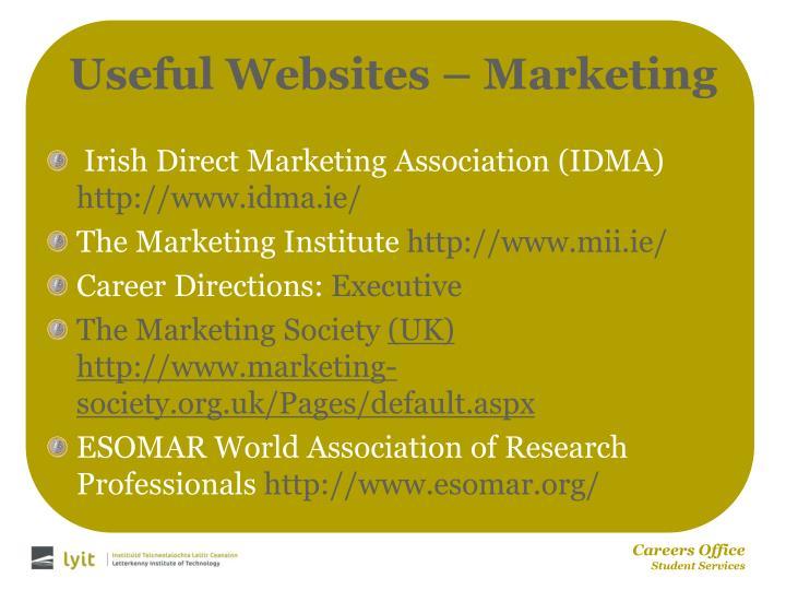 Useful Websites – Marketing