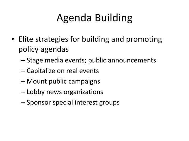 Agenda Building
