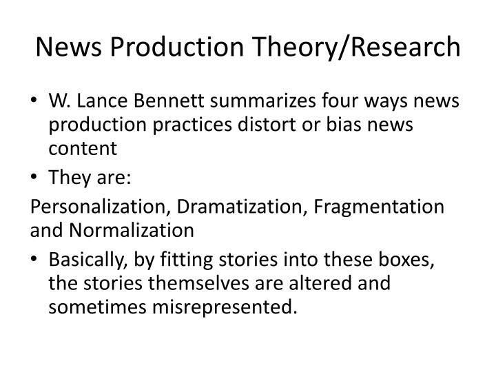 News Production Theory/Research