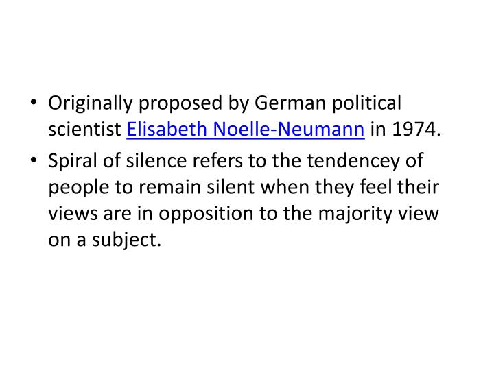 Originally proposed by German political scientist