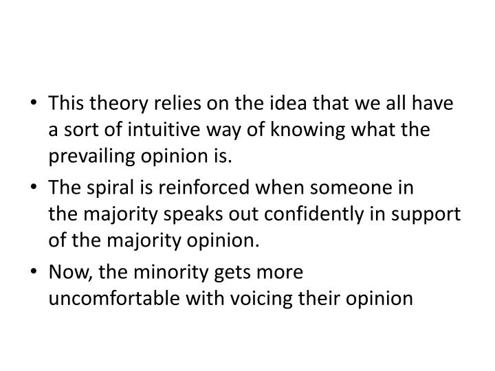 This theory relies