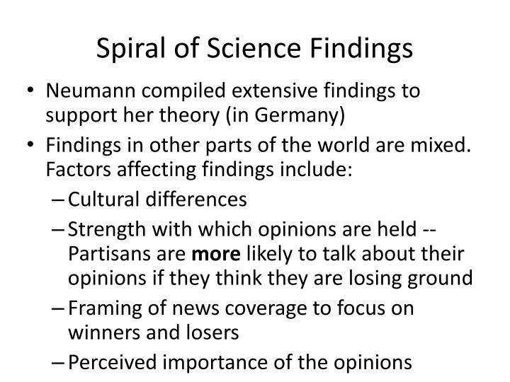 Spiral of Science Findings