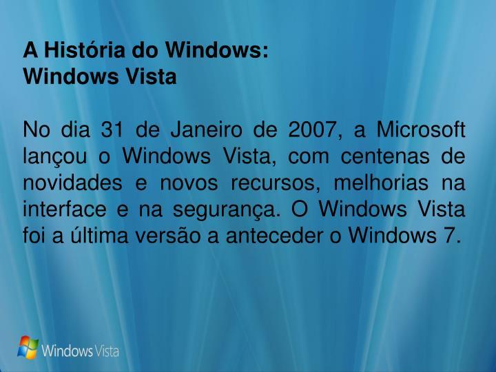 A História do Windows: