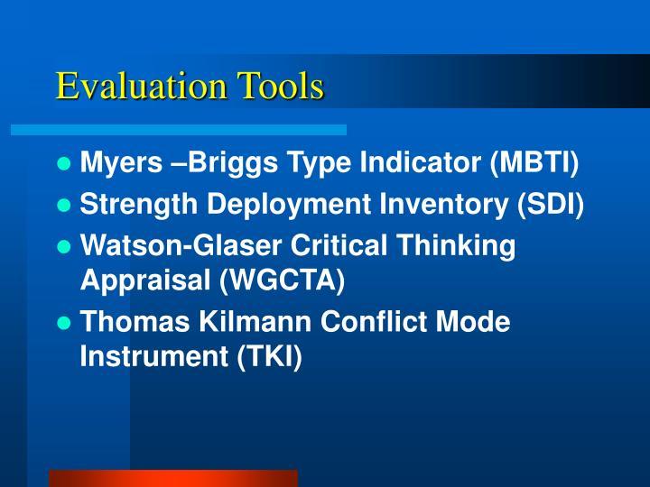Evaluation Tools