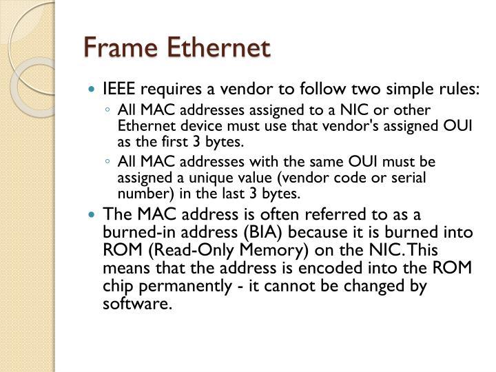 Frame Ethernet
