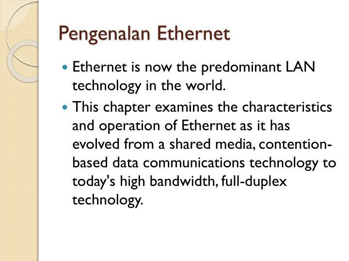 Pengenalan ethernet