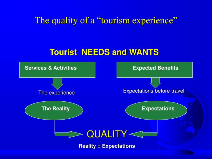 "The quality of a ""tourism experience"""