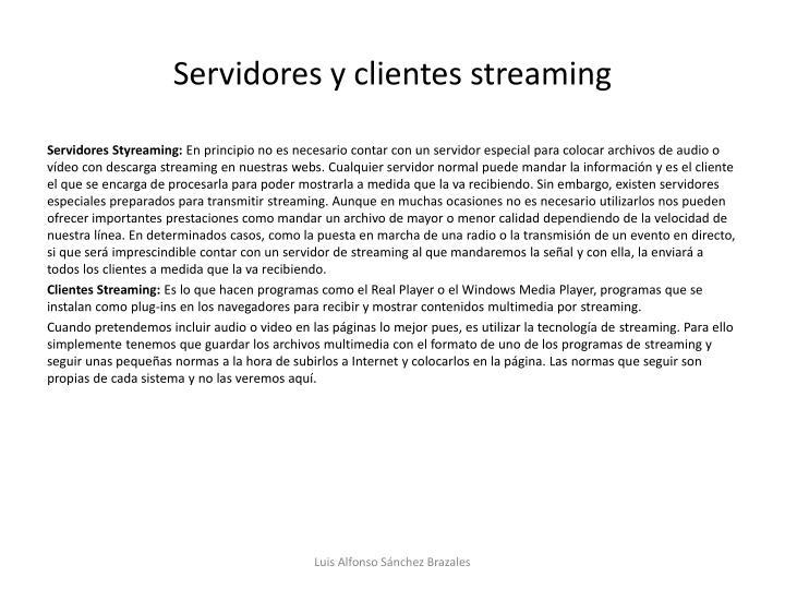 Servidores y clientes