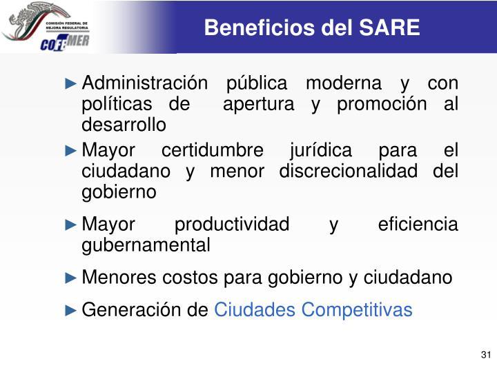 Beneficios del SARE