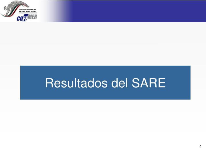 Resultados del SARE
