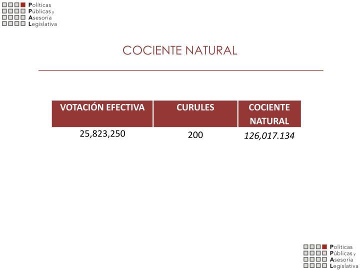 COCIENTE NATURAL