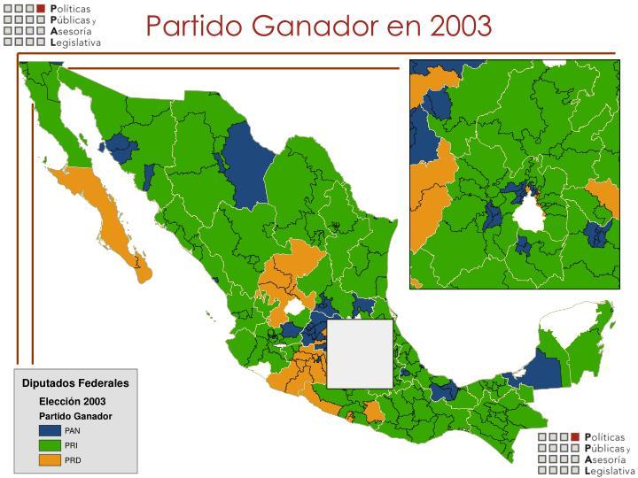 Partido Ganador en 2003