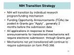 nih transition strategy